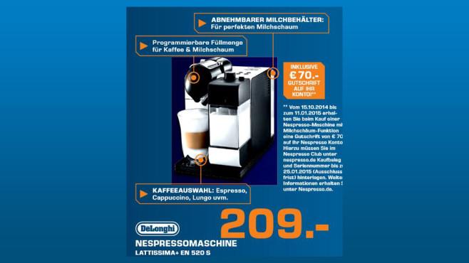 De'Longhi Nespresso Lattissima+ EN 520 S Ice Silver ©Saturn
