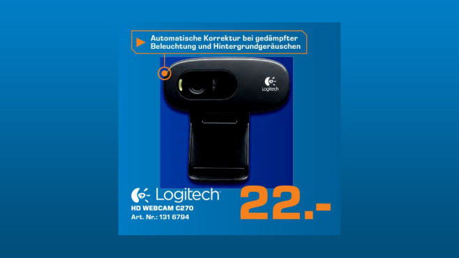 Logitech HD Webcam C270 © Saturn