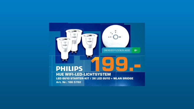 Philips Hue Connected Bulb Starter Pack © Saturn