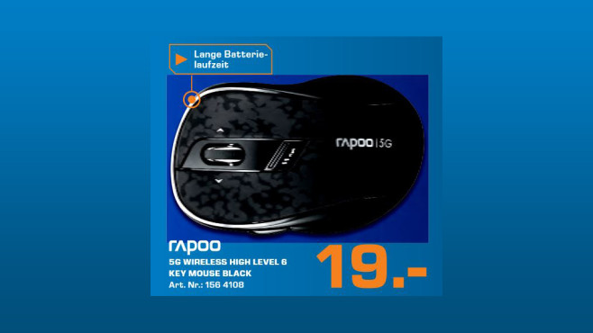 Rapoo Wireless Optical Mouse © Saturn