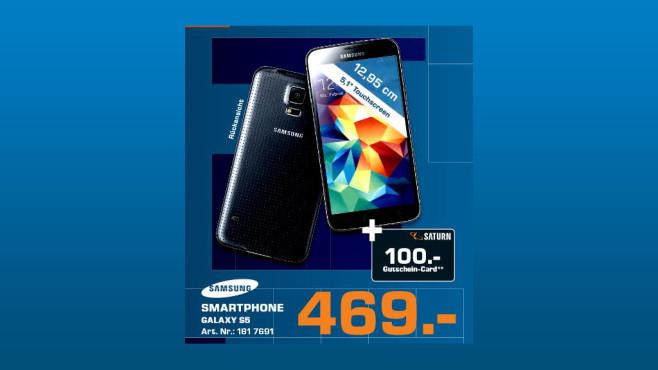Samsung Galaxy S5 16GB + 100-Euro-Gutschein ©Saturn
