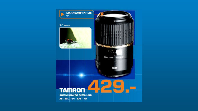 Tamron SP 90mm f2.8 Di VC USD Macro © Saturn