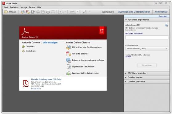 Adobe Reader 11 ©COMPUTER BILD