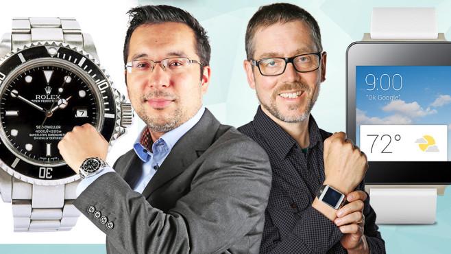 Das Duell: Rolex gegen Smartwatch ©COMPUTER BILD