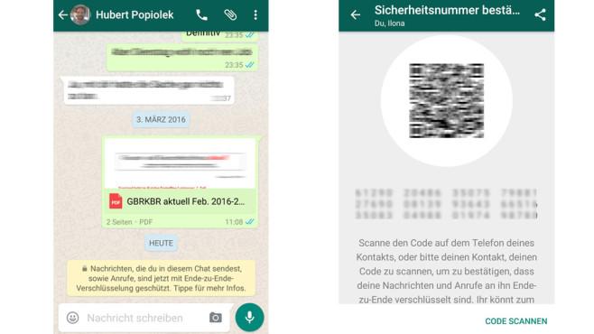 WhatsApp: End-to-End-Verschlüsselung ©COMPUTER BILD