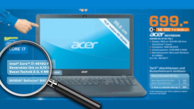Acer Aspire E5-571G-75LJ ©Saturn, Michael Nivelet - Fotolia.com