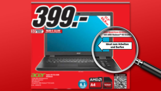 Acer Aspire E5-721-4188 (NX.MNDEG.006) ©Media Markt, Michael Nivelet - Fotolia.com