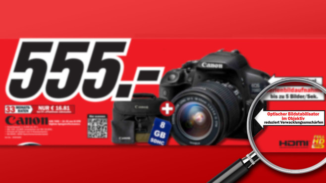 Canon EOS 700D Kit 18-55 mm © Media Markt, Michael Nivelet - Fotolia.com