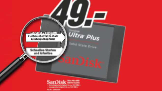 SanDisk Ultra Plus Desktop © Media Markt, Michael Nivelet - Fotolia.com