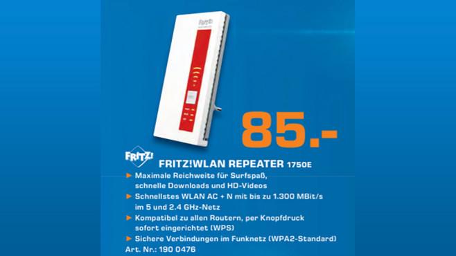 AVM FRITZ!WLAN Repeater 1750E ©Saturn