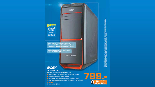 Acer Predator G3-605 (DT.SQYEG.238) ©Saturn