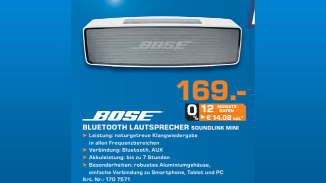 Bose SoundLink Mini Bluetooth Speaker ©Saturn