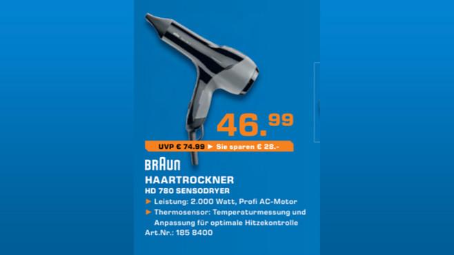 Braun Satin Hair 7 HD 780 ©Saturn