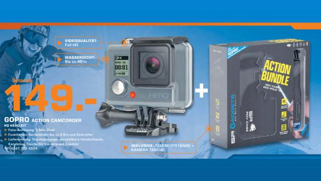 GoPro Hero + SP Gadgets Action Bundle ©Saturn
