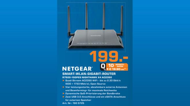 Netgear AC2350 Nighthawk X4 Smart WiFi Router (R7500) ©Saturn