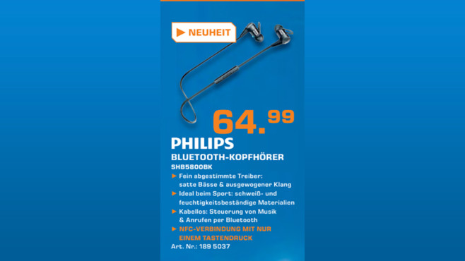 Philips SHB5800BK ©Saturn