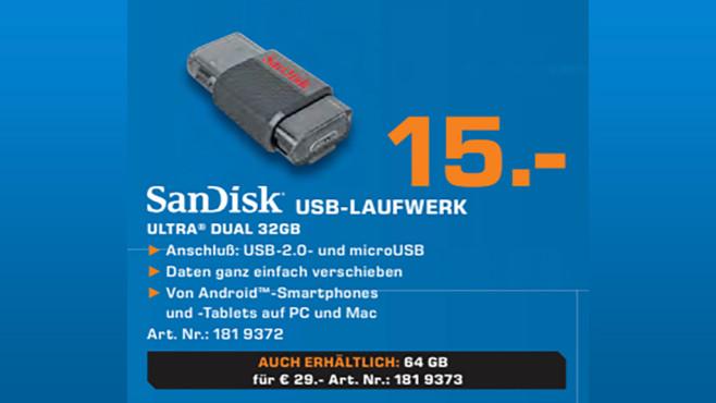 Sandisk Ultra Dual USB Drive 32GB ©Saturn