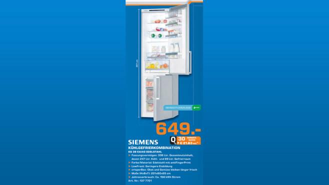 Siemens KG39EAI40 ©Saturn