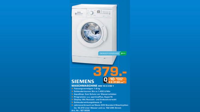 Siemens WM14E3ED1 ©Saturn