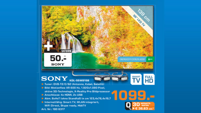 Sony KDL-55W815B ©Saturn