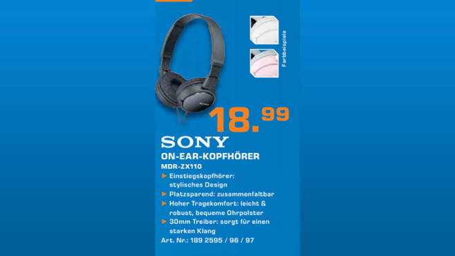 Sony MDR-ZX110 © Saturn