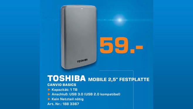 Toshiba Canvio Basics 1TB ©Saturn