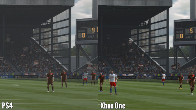 Sportspiel Fifa 14: Millerntor - PS4 vs. Xbox One © Electronic Arts
