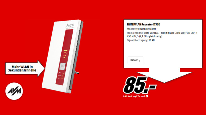 AVM FRITZ!WLAN Repeater 1750E © Media Markt