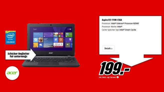 Acer Aspire ES1-111-C138 ©Media Markt