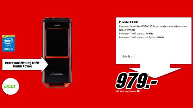 Acer Predator G3-605 ©Media Markt