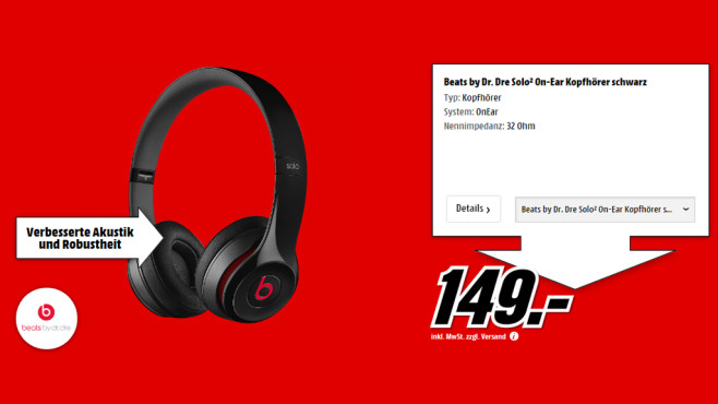 Beats By Dr. Dre Solo2 © Media Markt