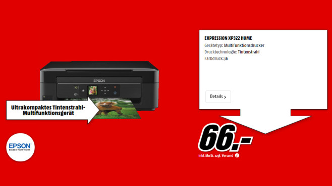 Epson Expression Home XP-322 © Media Markt