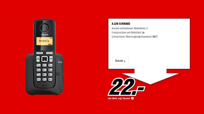 Gigaset A220 Single © Media Markt