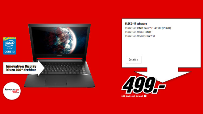 Lenovo IdeaPad Flex 2-14 © Media Markt