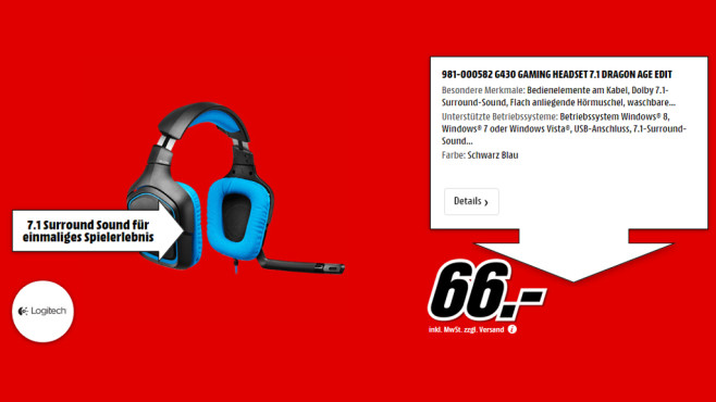 Logitech G430 ©Media Markt