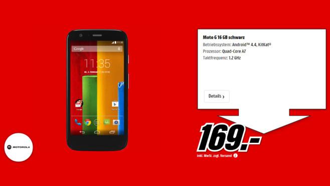 Motorola Moto G 16GB ©Media Markt