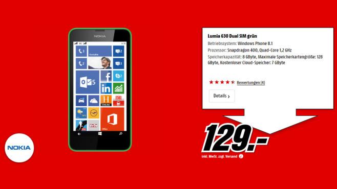 Nokia Lumia 630 Dual SIM ©Media Markt