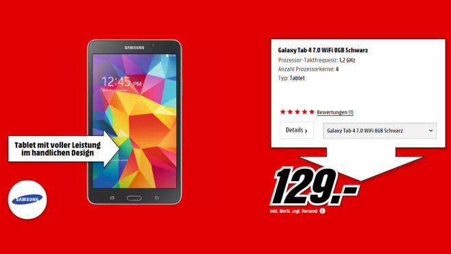 Samsung Galaxy Tab 4 (7.0) 8GB WiFi © Media Markt