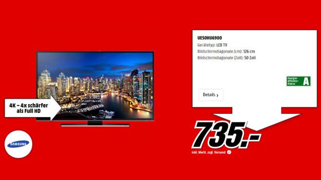 Samsung UE50HU6900 ©Media Markt