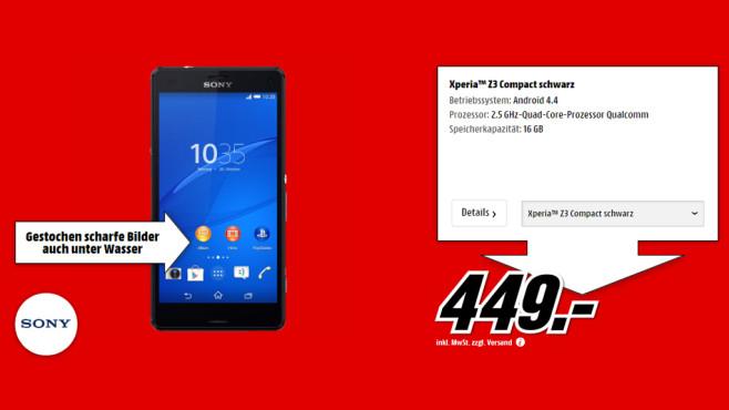 Sony Xperia Z3 Compact ©Media Markt