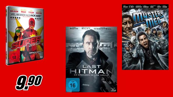 Verschiedene DVDs und Blu-rays ©Media Markt