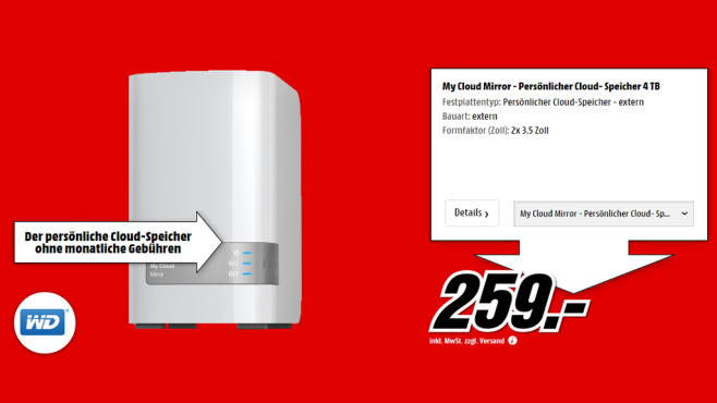 Western Digital My Cloud Mirror - 4TB © Media Markt