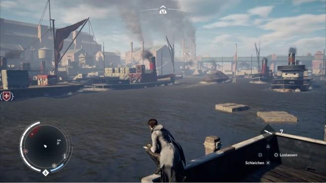 Test: Assassin's Creed – Syndicate Schon damals war auf der Themse viel los. ©Ubisoft