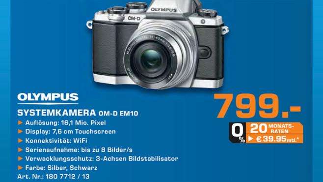 Olympus OM-D E-M10 (silber) Kit 14-42 mm [EZ] (silber) ©Saturn