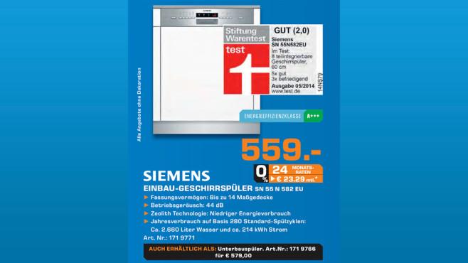 Siemens SN55N582EU ©Saturn