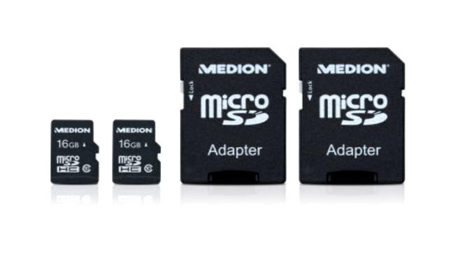 Medion 2 × 16 GB microSDHC-Speicherkarte ©Medion, Aldi