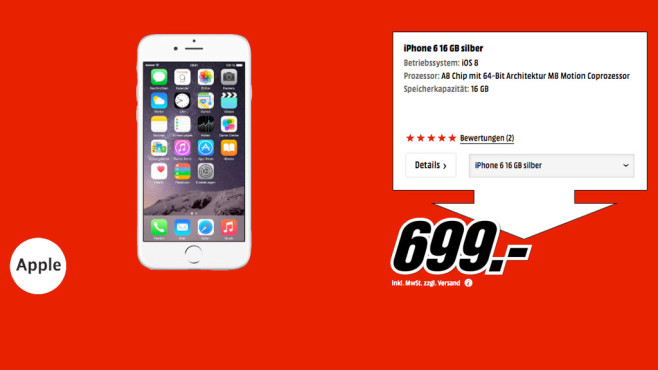 Apple iPhone 6 16GB © Media Markt