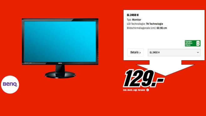BenQ GL2450H ©Media Markt