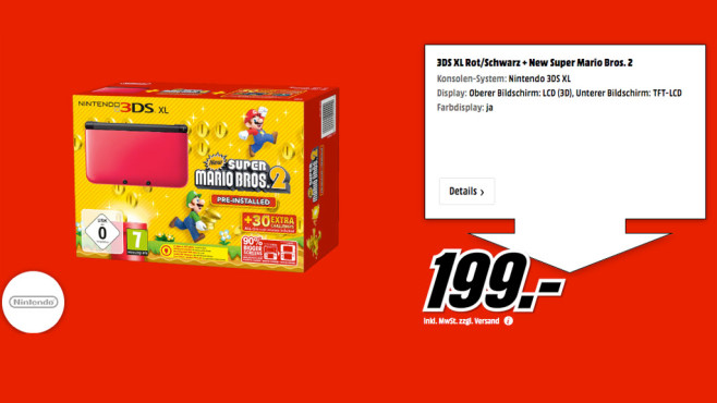 Nintendo 3DS XL Super Smash Bros. Limited Edition Pack © Media Markt