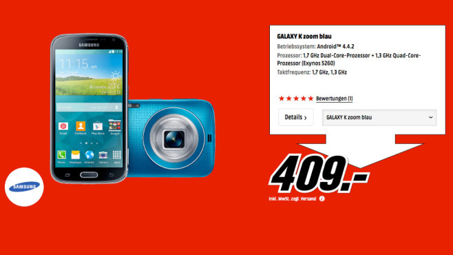 Samsung Galaxy K Zoom © Media Markt